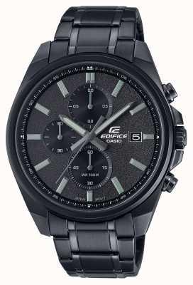 Casio Edifice alle zwarte ip | zwarte roestvrijstalen armband | zwarte wijzerplaat EFV-610DC-1AVUEF