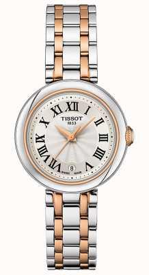 Tissot Bellissima   zilveren wijzerplaat   tweekleurige roestvrijstalen armband T1260102201301