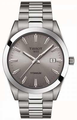 Tissot Heren titanium | zilver / grijze titanium armband | grijze wijzerplaat T1274104408100