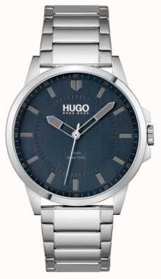 HUGO #eerste | roestvrijstalen armband voor heren | blauwe wijzerplaat 1530186