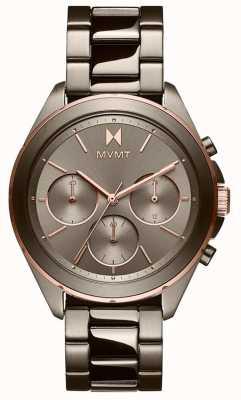 MVMT Uitje | grijze ip-armband voor dames | grijze wijzerplaat 28000130-D