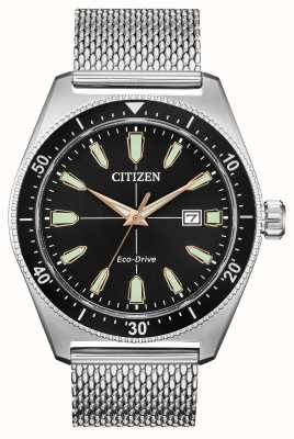 Citizen Heren brycen eco-drive roestvrij staal AW1590-55E