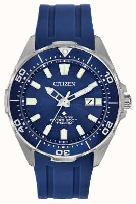 Citizen Eco-drive promaster blauwe siliconen heren BN0201-02M