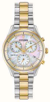 Citizen Eco-drive chronograafarmband voor dames FB1444-56D