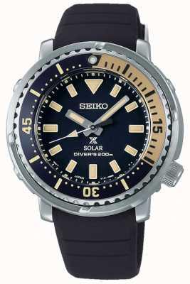 Seiko Prospex | zwarte siliconen band | zwarte wijzerplaat SUT403P1