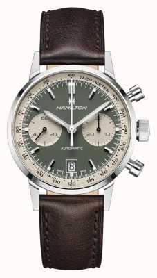 Hamilton intramatisch | automatisch | chronograaf | groene wijzerplaat H38416560