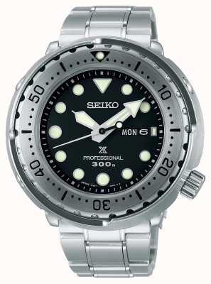 Seiko Prospex | tonijn | 300m | roestvrijstalen armband | zwarte wijzerplaat S23633J1