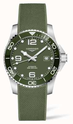 Longines Hydroconquest automatisch horloge met groene rubberen band L37813069