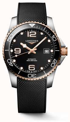 Longines Hydroconquest 41mm   zwarte wijzerplaat   rubberen band L37813589