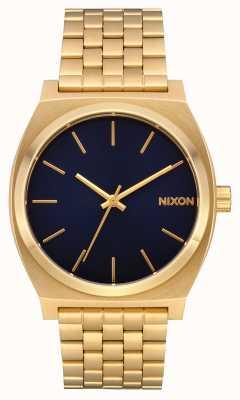 Nixon Tijdteller | helemaal goud / indigo | gouden ip-armband | indigo wijzerplaat A045-2033