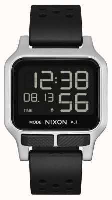 Nixon Warmte   zwarte geperforeerde rubberen band A1320-008