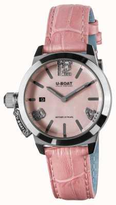 U-Boat Classico 38 roze leren band 8480