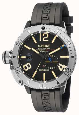 U-Boat Sommerso | horloge met zwarte rubberen band 9007/A
