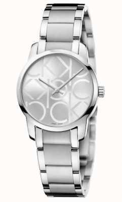 Calvin Klein Stad | roestvrijstalen damesarmband | zilveren wijzerplaat K2G23142
