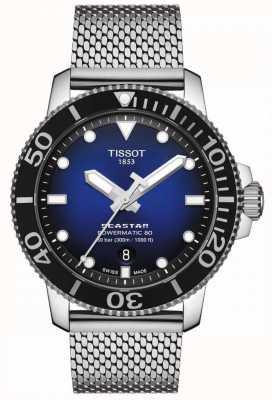Tissot Seastar 1000 | powermatic 80 | blauwe wijzerplaat | roestvrij gaas T1204071104102