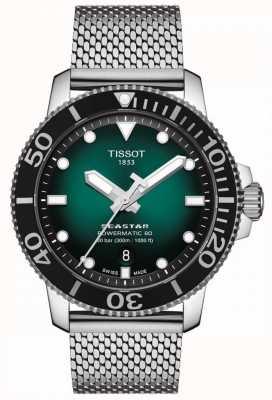 Tissot Seastar 1000 | powermatic 80 | groene wijzerplaat | roestvrij gaas T1204071109100