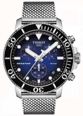 Tissot Seastar 1000   chronograaf   blauwe wijzerplaat   roestvrij gaas T1204171104102
