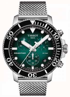 Tissot Seastar 1000   chronograaf   groene wijzerplaat   roestvrij gaas T1204171109100
