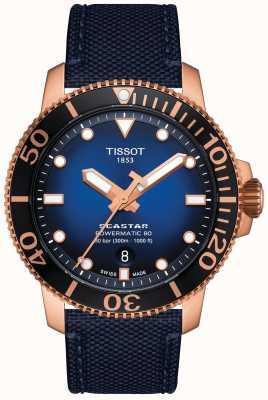 Tissot Seastar 1000   powermatic 80   blauwe wijzerplaat   blauwe stof T1204073704100