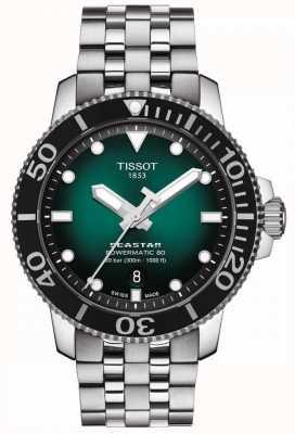 Tissot Seastar 1000 | powermatic 80 | groene wijzerplaat | roestvrij staal T1204071109101