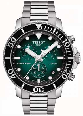Tissot Seastar 1000   chronograaf   groene wijzerplaat   roestvrij staal T1204171109101