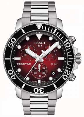 Tissot Seastar 1000 | chronograaf | rode wijzerplaat | roestvrij staal T1204171142100