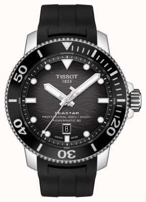 Tissot Seastar 2000 pro | powermatic 80 | zwarte wijzerplaat | siliconen T1206071744100