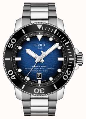 Tissot Seastar 2000 pro | powermatic 80 | blauwe wijzerplaat | staal T1206071104101