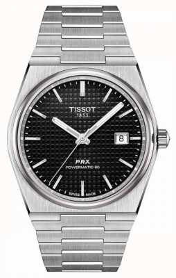Tissot | prx 40 205 | powermatic 80 | zwarte wijzerplaat | roestvrijstalen armband | T1374071105100