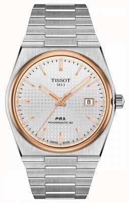 Tissot | prx 40 205 | powermatic 80 | witte wijzerplaat | roestvrijstalen armband | T1374072103100