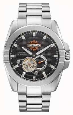 Harley Davidson Automatische gashendel heren | roestvrij stalen armband 76A166
