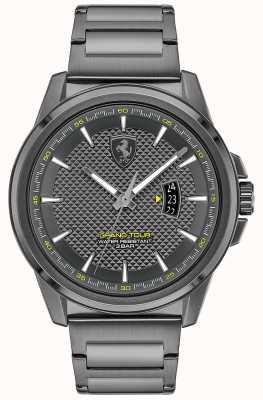 Scuderia Ferrari Grote ronde heren | grijze ip stalen armband | grijze wijzerplaat 0830836