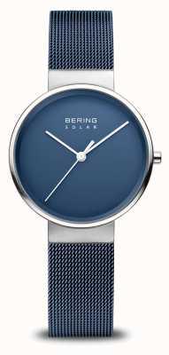 Bering Marineblauw zonnehorloge voor dames 14331-307