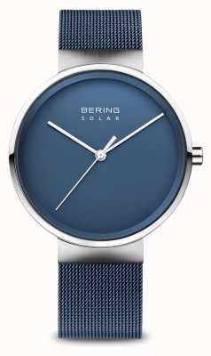 Bering Zonne-blauwe mesh-armband voor heren 14339-307