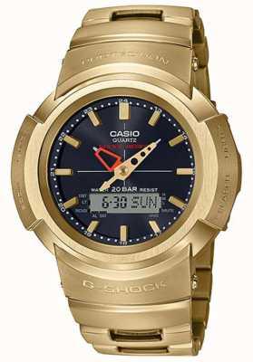 Casio G-schok | volledig metalen armband | verguld | radiografisch bestuurbare AWM-500GD-9AER