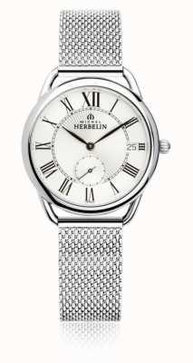 Michel Herbelin Equinox   zilveren wijzerplaat   armband van roestvrij staal 18397/08B