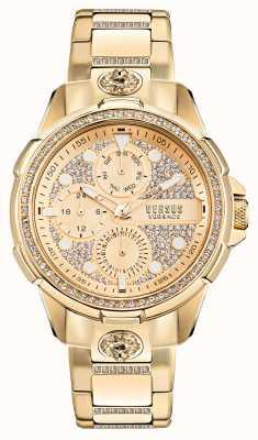 Versus Versace 6eme arrondissement kristallen set gouden horloge VSP1M0521