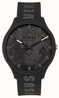 Versus Versace Domus horloge met zwarte siliconen band voor heren VSP1O0521