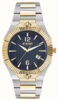 Versus Versace Echo park dual tone horloge met blauwe wijzerplaat VSP1P0521