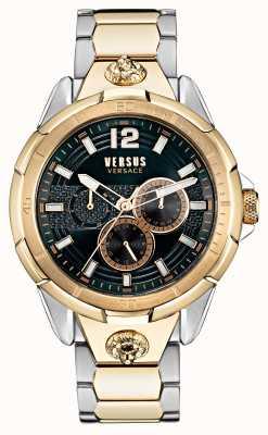 Versus Versace Heren runyon tweekleurig roestvrijstalen horloge VSP1L0421