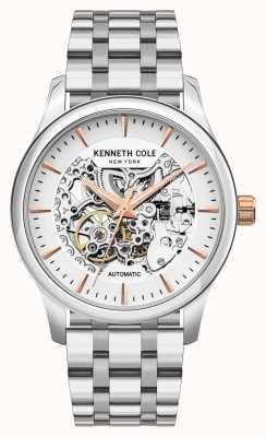 Kenneth Cole Automatisch | zilveren wijzerplaat | roestvrij stalen armband KC10027198A