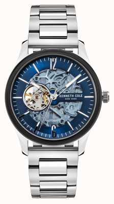 Kenneth Cole Automatisch | blauwe donkere wijzerplaat | roestvrij stalen armband KC50224001C
