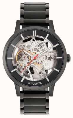 Kenneth Cole Automatisch | zwarte wijzerplaat | zwarte roestvrijstalen armband KC50559002