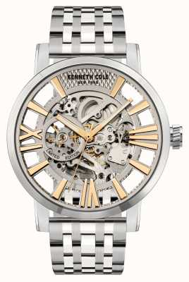 Kenneth Cole Automatische zilveren wijzerplaat | roestvrij stalen armband KC51018021A