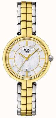 Tissot T-lady flamingo parelmoer wijzerplaat T0942102211101