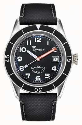 Squale Sub-39 | zwart Arabisch | zwarte wijzerplaat | zwarte leren band SUB-39MON