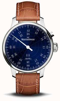 MeisterSinger Bell hora 20e verjaardag blauwe wijzerplaat BHO908