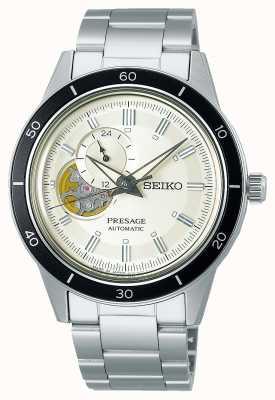 Seiko Presage stijl 60's crème wijzerplaat horloge SSA423J1