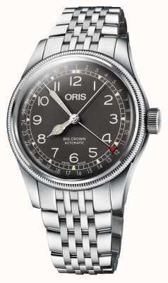 ORIS Grote kroon wijzer datum 40 mm roestvrij stalen armband 01 754 7741 4064-07 8 20 22
