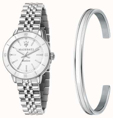 Maserati Successo solar dameshorloge en armband cadeauset R8853145507